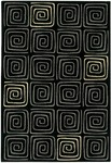 Couristan Everest 2856/7259 Labyrinth Black Closeout Area Rug