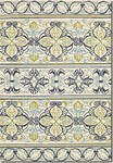 Couristan Covington 3037/7821 Pegasus Ivory/Navy/Lime Area Rug