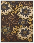 Feizy Saphir Adur 3095F Dark Chocolate/Teal Closeout Area Rug