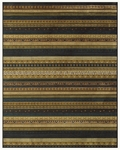 Feizy Saphir Adur 3099F Dark Chocolate/Teal Closeout Area Rug