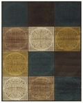 Feizy Saphir Adur 3103F Dark Chocolate/Teal Closeout Area Rug