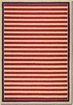 Couristan Covington 3126/0260 Nautical Stripes Red/Navy Area Rug