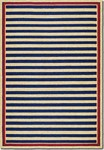Couristan Covington 3126/0630 Nautical Stripes Navy/Red Area Rug
