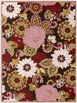 Feizy Saphir Lima 3196F DCOPLM Dark Chocolate Plum Closeout Area Rug