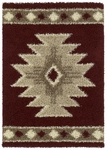 United Weavers Aurora 320 03334 Southwest Icon Cranberry Closeout Area Rug