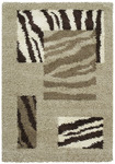 United Weavers Aurora 320 03894 Shaggy Zebra Taupe Closeout Area Rug