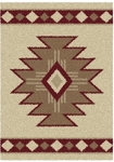 United Weavers Aurora 320 03393 Southwest Icon Vanilla Closeout Area Rug