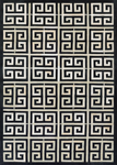 Couristan Chalet 3259/0243 Meander Black-Ivory Area Rug