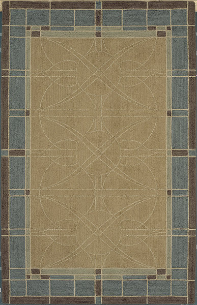 Shaw Living Nexus Stained Glass N0007 Teal Closeout Area Rug