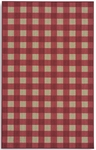 Karastan French Check Rugs 357-29030 Red Check Closeout Area Rug