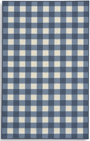 Karastan French Check Rugs 357 29917 Blue Check Closeout
