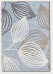 Couristan Moonwalk 3657/3003 Spindle Leaf Blue Closeout Area Rug