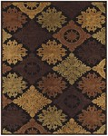 Feizy Saphir 3782F Black/Chocolate Closeout Area Rug
