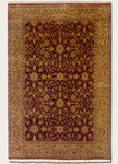 Couristan Royal Imperial 3900/0025 Sarouk/Mesa Red- Gold Closeout Area Rug