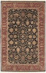 Couristan Royal Imperial 3900/0060 Floral Arabesque Black/Burgundy Closeout Area Rug
