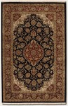 Couristan Royal Imperial 3900/0070 Safavid Black/Burgundy Closeout Area Rug