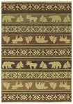 Shaw Living Timber Creek By Phillip Crowe Canyon Trail 03110 Light Multi Closeout Area Rug - 2014