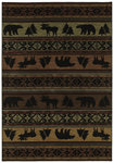 Shaw Living Timber Creek By Phillip Crowe Canyon Trail 03440 Multi Closeout Area Rug - 2014