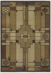 Shaw Living Timber Creek By Phillip Crowe Terra Cotta 18110 Light Multi Closeout Area Rug - 2014