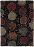 Shaw Living Modernworks Synergy 08500 Black Closeout Area Rug - 2014