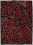 Shaw Living Modernworks Spellbound 01800 Red Closeout Area Rug - 2014