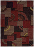 Shaw Living Modernworks Avalon 03800 Red Closeout Area Rug