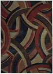 Shaw Living Modernworks Deco 04800 Red Closeout Area Rug - 2014