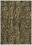 Shaw Living Modernworks Tanzania 09720 Dark Brown Closeout Area Rug