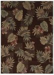 Shaw Kathy Ireland Home Ohana Paradise Kauai Leaves 08700 Brown Closeout Area Rug - Spring 2013
