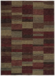 Shaw Living Modernworks Parallel 00800 Cranberry Closeout Area Rug - 2014