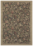 Shaw Living Woven Expressions Gold English Floral 11700 Chocolate Closeout Area Rug - 2014
