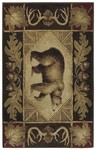 Shaw Living Reflections Bear Country 00700 Brown Closeout Area Rug - 2014