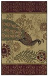 Shaw Living Reflections Peacock 08100 Beige Closeout Area Rug - 2014