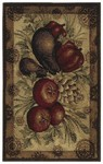 Shaw Living Reflections Medallion Veggies 10200 Gold Closeout Area Rug - 2014