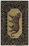 Shaw Living Reflections Leopard 15500 Black Closeout Area Rug - 2014