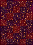 Shaw Living Reverie Swirl 13800 Brick Closeout Area Rug - 2014