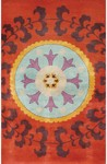Rug Market Cultural Chic 40337 Suzani Red/Aqua/Orange Area Rug