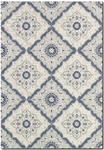 Couristan Dolce 4077/6025 Brindisi Ivory/Confederate Grey Area Rug