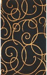 Rug Market Rexford 44024 Barney's Black/Gold Closeout Area Rug