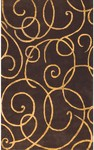 Rug Market Rexford 44025 Barney's Brown/Gold Closeout Area Rug