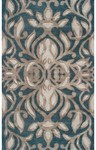 Rug Market Rexford 44257 Antionette Teal/Brown/Taupe Closeout Area Rug