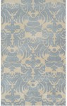 Rug Market Rexford 44260 Venice Ivory/Blue Closeout Area Rug