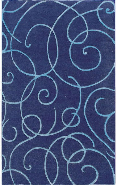 Rug Market Maison 44316 Barney S Navy Blue Teal Closeout
