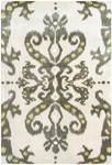 Rug Market Distinction 44374 Ethnic Damask Cream/Grey/Yellow Area Rug