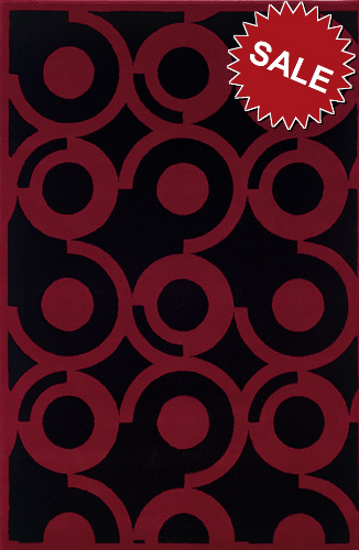 Oriental Weavers Andy Warhol Pop Abstracts 050x1 Circles Medium Red Area Rug