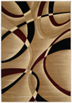 United Weavers Contours 510 21334 La Chic Burgundy Area Rug