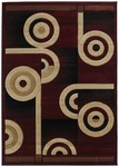 United Weavers Contours 510 22434 Spiral Canvas Burgundy Closeout Area Rug