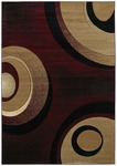 United Weavers Contours 510 22534 Orbit Burgundy Closeout Area Rug