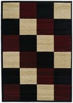 United Weavers Contours 510 22734 Painted Diamond Burgundy Closeout Area Rug
