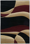 United Weavers Contours 510 22834 Avalon Burgundy Area Rug